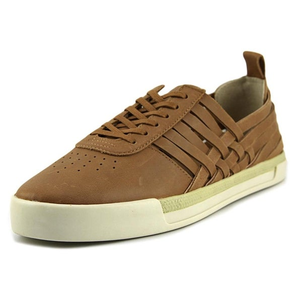 Lucky Brand Missha Women Round Toe Leather Brown Sneakers