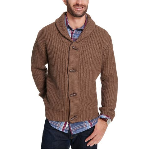 Weatherproof Mens Toggles Cardigan Sweater