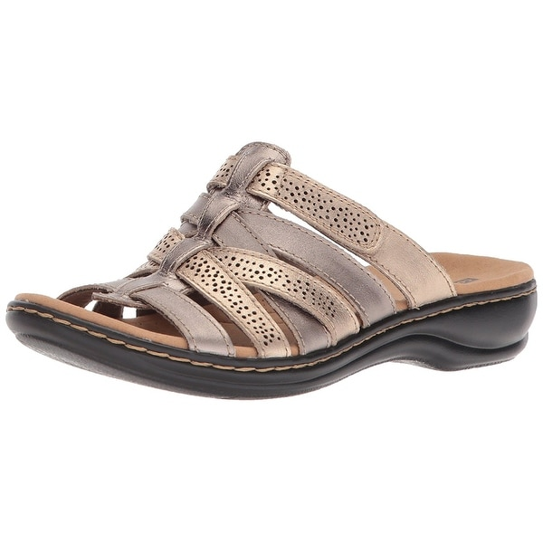 30717ab79f24 Shop CLARKS Womens leisa fields Open Toe Casual Slide Sandals ...