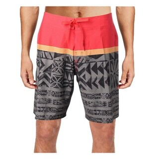 Quiksilver Mens Colorblock Graphic Board Shorts - 33