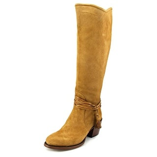 Lucchese Ellie   Round Toe Suede  Knee High Boot