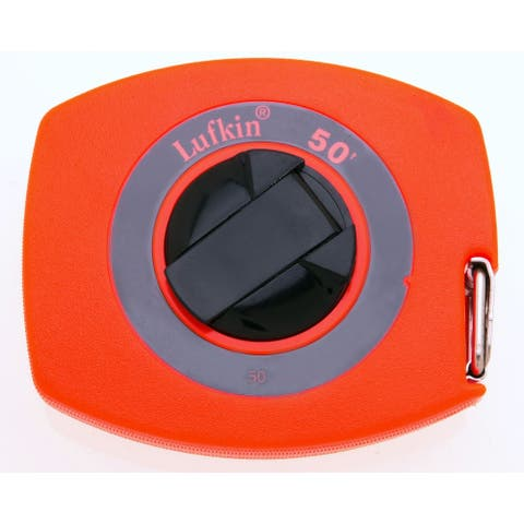 "Lufkin 50 Long Tape Rule With High Visibility, 3/8"" x 50', Orange"