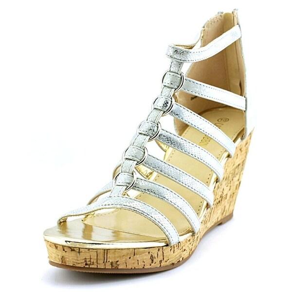 Cape Robbin Belen-BJ-1 Women Open Toe Synthetic Wedge Sandal