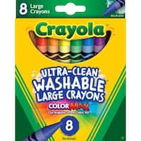 Crayola Ultra Clean Washable Color Max Crayons, Large Size, Set of 8