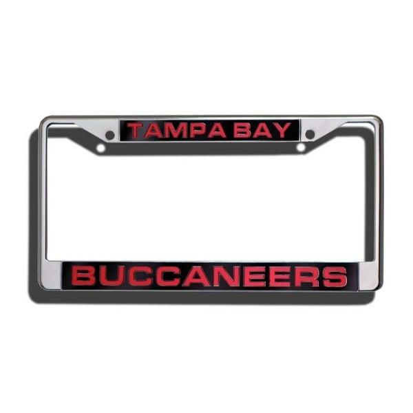 Tampa Bay Buccaneers Laser Cut Chrome License Plate Frame