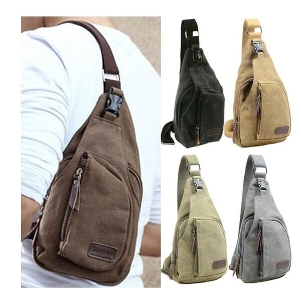 6a967c9f93cb Shop Fashionable Men s Canvas Satchel Military Bag Cross Body Handbag  Messenger - Free Shipping On Orders Over  45 - Overstock - 22824503