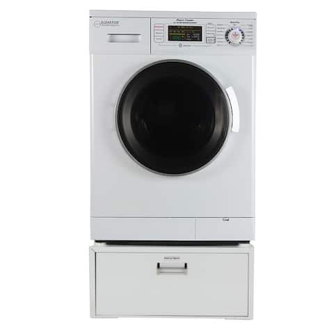 Equator EZ 4400 N All-in-one New Compact Combo Washer Dryer with Pedestal Storage Drawer