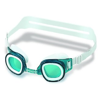 "Recreational Junior Green Goggles Swimming Pool Accessory for Ages 4 and up 6"" - White"