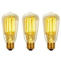 Globe Electric 31324 Pack of (3) 40 Watt Dimmable S60 Medium (E26) Incandescent Light Bulbs