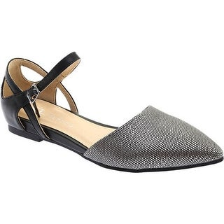 Chinese Laundry Women's CL Helena D'Orsay Flat Star Lizard/Pewter Calf Synthetic