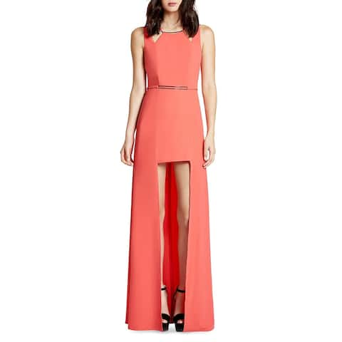 Halston Heritage Women's Hardware Embellished High-Low Sleeveless Gown - Coral