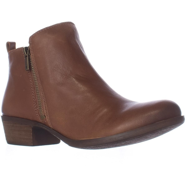 Lucky Brand Basel Side Zip Ankle Boots, Toffee