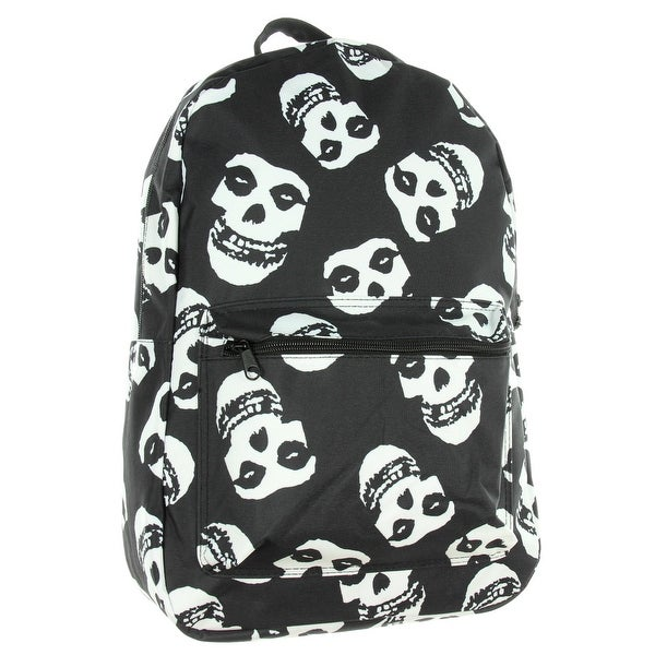 d6e58858b Misfits Allover Sublimation Fiend Skull Logo Punk Rock Band Backpack - One  Size Fits Most
