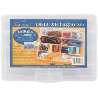 "Deluxe Organizer 10.75""X7.7""X1.75""-8 Compartments"