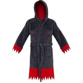The Walking Dead Do Not Open Dead Inside Fleece Bathrobe & Swim Suit Cover Up