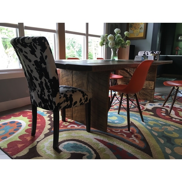 Terrific Top Product Reviews For Portman Cow Hide Parson Dining Bralicious Painted Fabric Chair Ideas Braliciousco