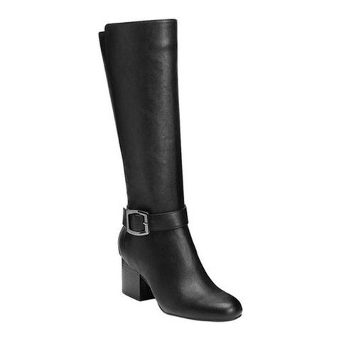 Aerosoles Women's Patience Knee High Boots Black Faux Leather