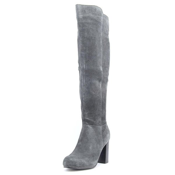 Kensie Ginette Women Round Toe Synthetic Gray Knee High Boot