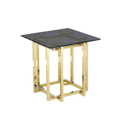 Stainless Steel Accent Table,Gold