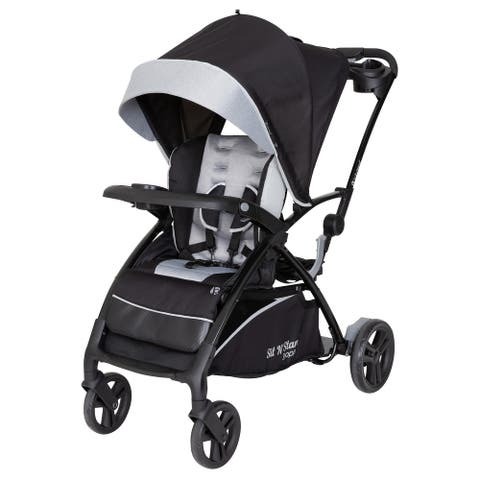 Baby Trend Sit n Stand 5 in 1 Shopper Stroller,Moondust - Double Stroller