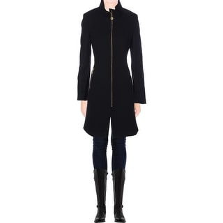 Elie Tahari Womens Loraina Coat Wool Cowl Neck