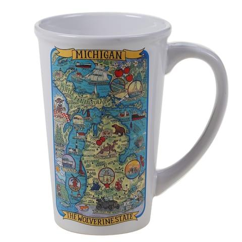 Certified International Michigan Souvenir 22 oz. Jumbo Mugs (Set of 6)