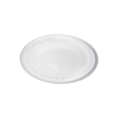 """8"""" Plates with Silver- Set/4"""