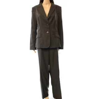 Evan Picone NEW Gray Red Women's Size 14 Pinstriped Pant Suit Set