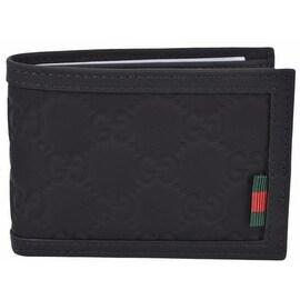Gucci Men's 233157 Black Neoprene Red Green Web Mini GG Guccissima Wallet
