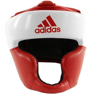 Adidas Response Standard Top Protection Boxing Headgear - White/Red