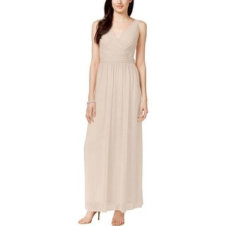 Adrianna Papell Womens Evening Dress Chiffon Drape Back