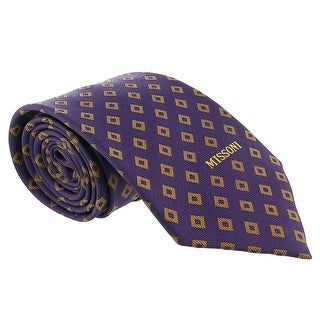 Missoni Diamond Purple/Gold Woven 100% Silk Tie