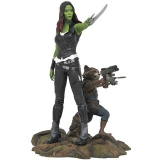 Marvel Gallery GOTG Gamora & Rocket Raccoon PVC Figure