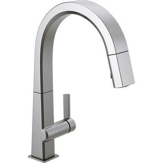 Delta 9193-DST  Pivotal 1.8 GPM Single Hole Pull Down Kitchen Faucet with Magnetic Docking Spray Head