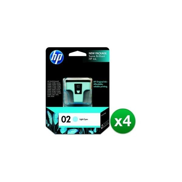 HP 02 Light Cyan Original Ink Cartridge (C8774WN) (4-Pack)