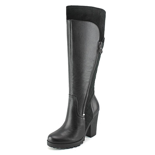 Guess Cayena Round Toe Leather Knee High Boot