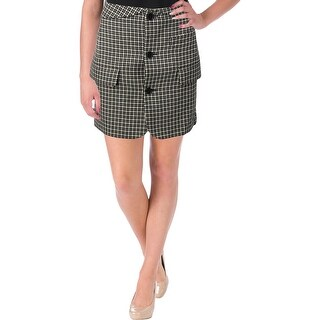 Helmut Lang Womens Mini Skirt Houndstooth Checkered Plaid