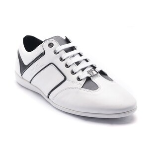 Versace Collection Men's Leather Sneaker Shoes White