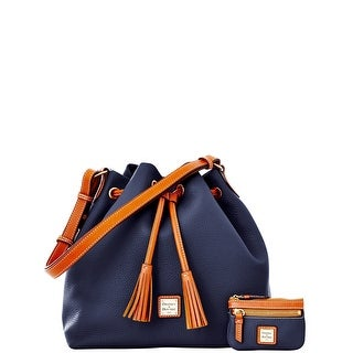 Dooney & Bourke Pebble Grain Drawstring with Coin Case (Introduced by Dooney & Bourke at $285 in Dec 2014) - Marine