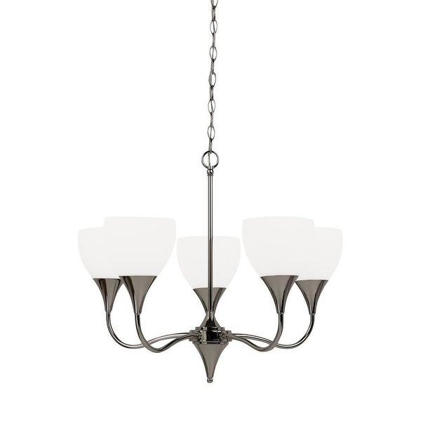 Sea Gull Lighting 31961-841 5-Light Chandelier Polished Nickel - nickel finish