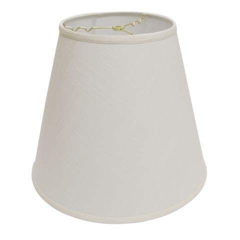 Cloth & Wire Slant Extra Deep Empire Hardback Lampshade with Washer Fitter, White