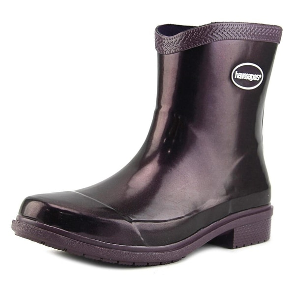 Havaianas Hav Mid Metallic Rain Boot Women Purple Snow Boots