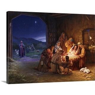 Mark Missman Premium Thick-Wrap Canvas entitled Light of The World - Multi-color