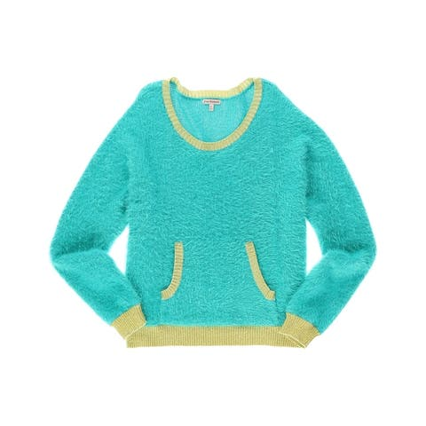 Juicy Couture Womens Fuzzy Knit Sweater