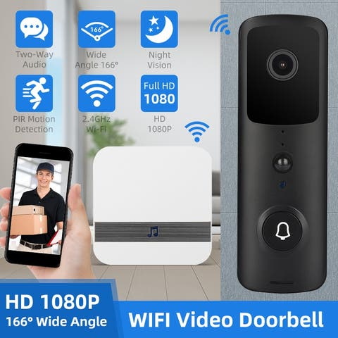 Wireless Remote Smart Doorbell Ring Camera Doorbell DingDong Machine 2.4GHz with Battery Chime