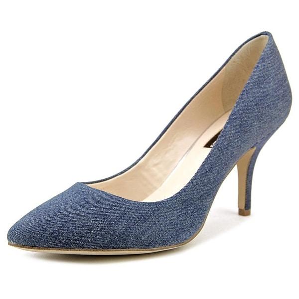 INC International Concepts Zitah Women Round Toe Canvas Blue Heels