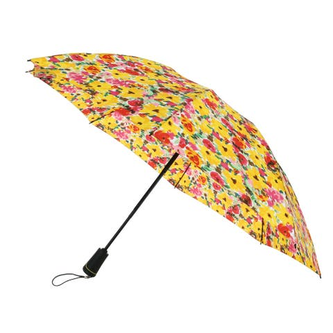 Totes Women's Reversible Auto Open and Close Floral SunGaurd Compact Umbrella - one size