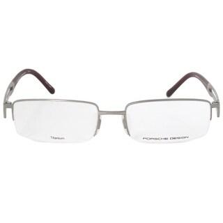 Porsche Design P8703 C Rectangular Matte Silver Eyeglass Frames
