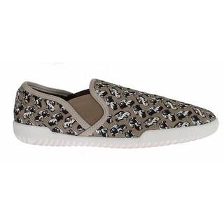 Dolce & Gabbana Beige Denim Car Print Loafers Sneakers Shoes - 44