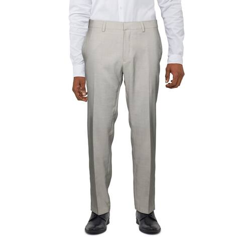 Kenneth Cole Reaction Mens Dress Pants Slim Ft Stretch - Tan